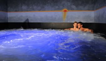 The brine bath at Spa Hotel Alpenflora close to Alpe di Siusi