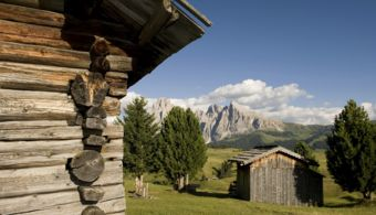 Amazing view of the South Tyrolean Dolomites, Alpe di Siusi