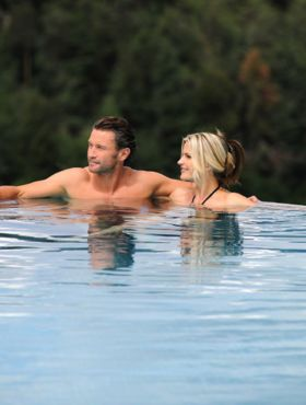 Entspannung in den Pools des Hotels in Kastelruth