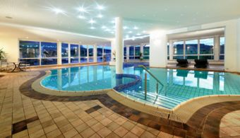 Wellness experience at the pools of Hotel Alpenflora****