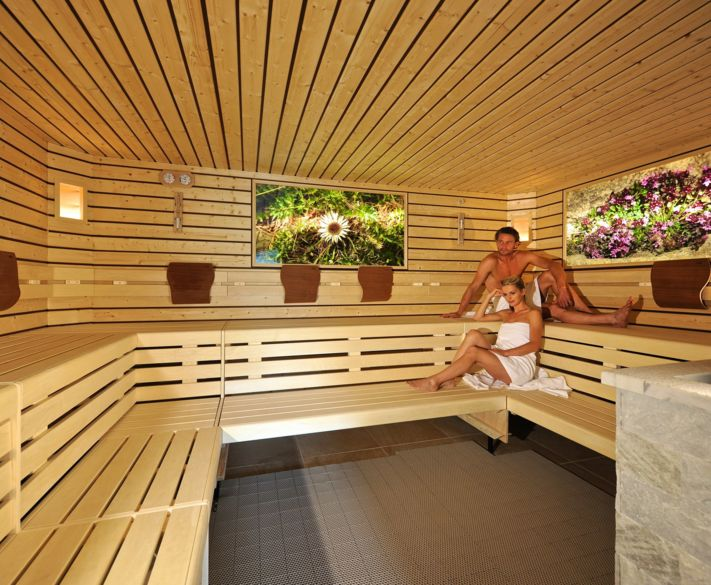 The sauna area at Hotel Alpenflora in Castelrotto