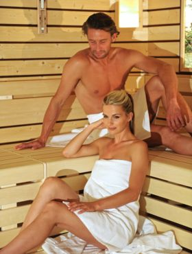 Healthy sauna at the wellness Hotel Alpenflora****