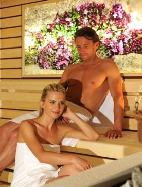 Relax in the sauna at the Wellness Hotel Alpenflora